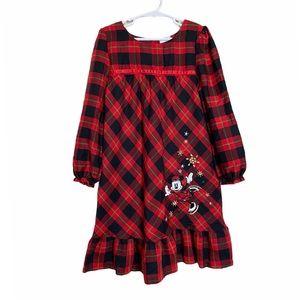 Disney Red Plaid Mini Mouse Pajama Dress Gown